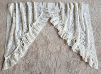 """JC Penney Priscilla Lace Curtain Swags - Rod Pocket Curtains  Ivory 39"""" x 34"""""""