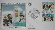 ENVELOPPE PREMIER JOUR - 9 x 16,5 cm - ANNEE 2001 - MEILLEURS VOEUX