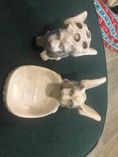 Vintage mythical Gargoyle creature figurine, Soap Dish And Toothbrush Holder