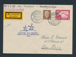 DT. REICH 1932, Mi. 456 auf Zeppelinbrief, sehr gute Erhaltung!! Si. Nr. 164 Aa!