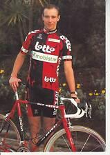 CYCLISME carte cycliste ANDRE TETERIOUK équipe LOTTO MOBISTAR 1997