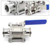 KF40 Ball Valve Vacuum manual flange Fitting Strong acid resistance Sliver New