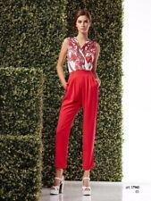 Abito Donna Tuta Pantalone Woman Vestito Dress Allure Maestri Giallo Rosso sc...