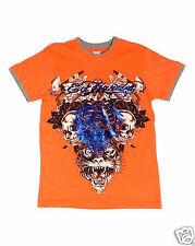 Boys ED HARDY Metallic Foil Graphic T Shirt sz S  AUTHENTIC