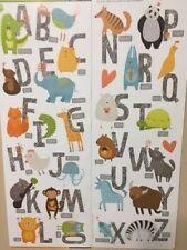 ANIMAL ALPHABET LETTERS wall stickers 28 decals school room decor nursery ABC