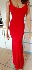 SEXY SLINKY LIPSTICK RED STRETCH LONG MAXI DRESS sz S BOOHOO