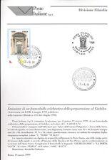 ITALIA 1999 PREPARAZIONE GIUBILEO  BOLLETTINO COMPLETO DI FRANCOBOLLI FDC