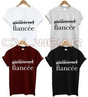FIANCEE T SHIRT NOT GIRLFRIEND MARRIAGE RING TO BE WIFEY HUBBY WIFE FIANCE NEW