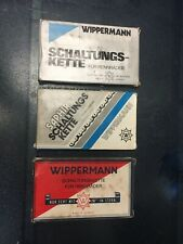 """Four (4) New Old Stock Wippermann Chains (1/2"""" x 3/32"""") Made in Germany NOS"""