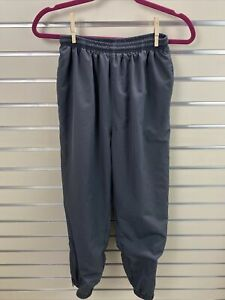 Vintage Kaelin Women's PETITE Small Gray Lined  Track Pants Jogger Zip Ankle