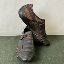 Mens Size 10 PUMA Vedano Brown Leather Race Shoes Very Good Condition!