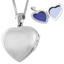 PLAIN HEART SHAPED LOCKET ON CHAIN STERLING SILVER HALLMARKED FROM ARI D NORMAN