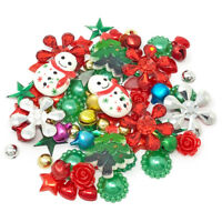 80 Mix Christmas Bright Shabby Chic Resin Flatbacks Craft Embellishments