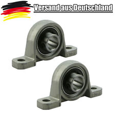 2x KP000 Lagerbock 10 mm Welle Stehlager P000 Gehäuselager Set L0192