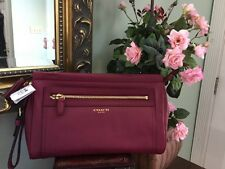 New Coach Bag Wristlet Legacy 48021 Large Leather Clutch Deep Port B2E