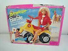 VINTAGE 1995 MATTEL BAYWATCH BARBIE REMOTE CONTROL RESCUE CRUISER WITH BOX