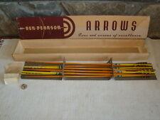 Vintage Lot of 8 Ben Pearson Wood Arrows in Original Box