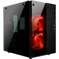 Rosewill Gaming Cube Computer PC Case, ATX Mid Tower w/ Red Fans CULLINAN PX RED