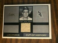 2003 Flair Greats Cut Of History Luis Aparicio Chicago White Sox GW Jersey NrMt