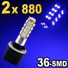 2 x 880 881 893 Blue 36-SMD LED Bulbs For Driving Fog Light