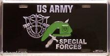 Aluminum Military License Plate Army Special Forces Green Beret NEW