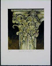 "Original   Mixed Media Mono Print by Liz Jardine  ""CORNTHIAN KINGS I"""
