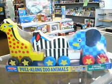 Melissa & Doug - Pull-Along Zoo Animals