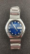 VINTAGE SEIKO DX AUTOMATIC BLUE DIAL 6106-7639 RUNNING