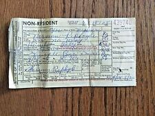 Vintage 1965 Non Resident Arizona Fishing License Paper