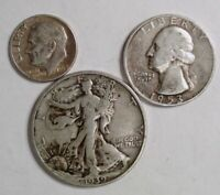 $10 UNSEARCHED HALVES ROLL + Walking Liberty Half + Bonus 90% Silver Coin w/5+!