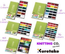 Kuretake Gansai Tambi Japanese Watercolour Paint Set 12/18/24/36/48 Pallets