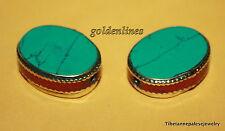 Tibet beads, Nepal beads, Tibet beads, Turquoise beads, 2 Tibetan beads, BDS504