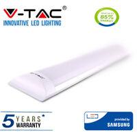 LED Batten Light Slim 1FT 10W Ceiling Fitting Low Profile 4000K 30CM LEDBRITE