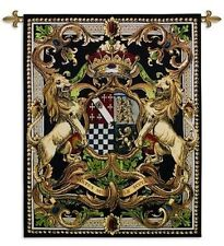 Medieval Regal Crest II Coat of Arms Woven Art Tapestry Wall Hanging Made in USA