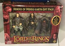 Lord of the Rings Heroes of Middle Earth 3-Pack Legolas Gimli Aragorn Toybiz New