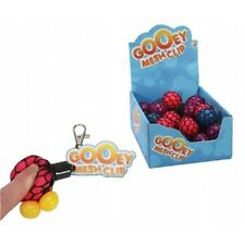 Gooey Mesh Squishy Ball Keyring Assorted Colours - Small Version 6cm Stress