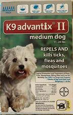 K9 Advantix II For Medium Dogs 11-20Lbs - 6 Pack USA EPA Approved