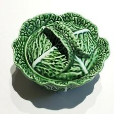 Vintage John Wanamaker Green Cabbage Soup Bowl With Lid