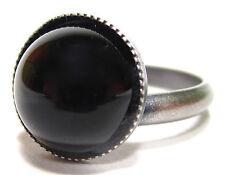 Modeschmuck-Ringe aus Edelstein mit Onyx-Hauptstein für Damen