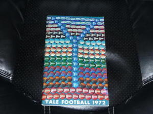 1972 YALE COLLEGE FOOTBALL MEDIA GUIDE EX-MINT  BOX 13
