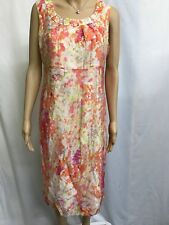 W.LANE SIZE 10 PRETTY ABSTRACT FLORAL SLEEVELESS  SUMMERY DRESS