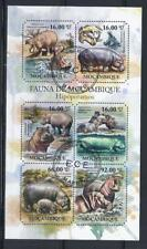 KL5986 2011 Souvenir Sheet of 6 Different Large Wild Animals Hippos