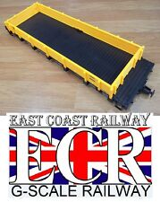 BRAND NEW G SCALE RAILWAY ROLLING STOCK SPARES YELLOW FLAT BED BODY AS SHOWN