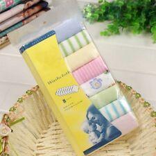 8 Pack Baby Cotton Square Muslin Burp Cloth Bib Comforter Nappy Wipe small UK