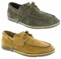 Caterpillar Sorkin Leather Deck Boat Style Casual Smart Shoes Mens UK6-10