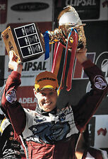 James Courtney SIGNED 12x8, Victory Portrait ,Clipsal 500 Adelaide 2014.