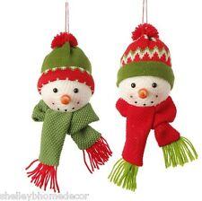 Snowman Head Christmas Ornament Set of 2 6.5 inch biz 3420003 NEW RAZ