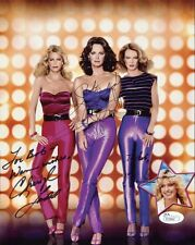 Charlie'S Angels Hand Signed 8x10 Color Photo Smith+Ladd+Hack To Bob Jsa
