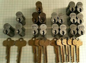 Lot of 18 Best IC Cores/Keyed to Master System/ 5 Zones w/Control & Master Keys