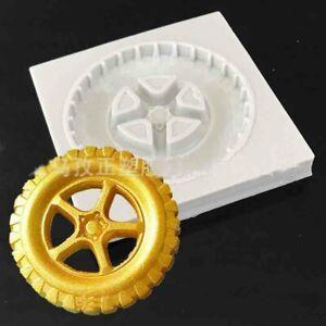 Wheel Silicone Fondant Mould Cake Decorating Paste Sugar topper Chocolate Mold